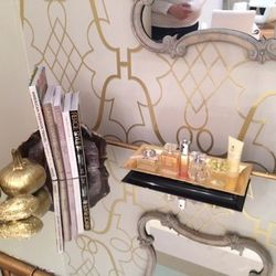 """A genius """"finishing nook"""" has perfumes and mints to top off the services."""