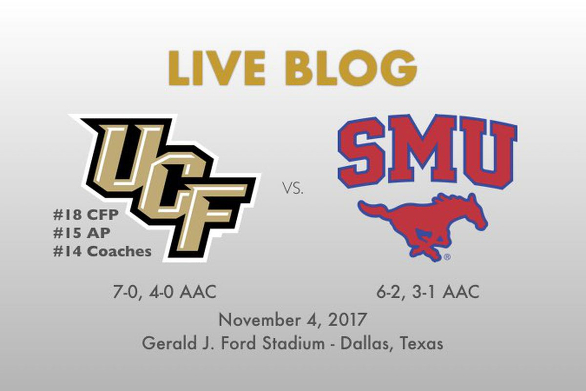 UCF faces SMU in Dallas at 7:15 p.m. on Saturday, November 4th on ESPN2