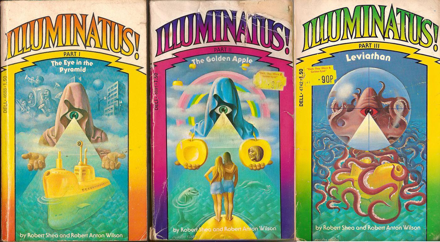 Bộ ba Illuminatus, một số cuốn sách tạo nên giai điệu cho ý tưởng hiện đại của chúng ta về Illuminati. JVK thông qua Creative Commons