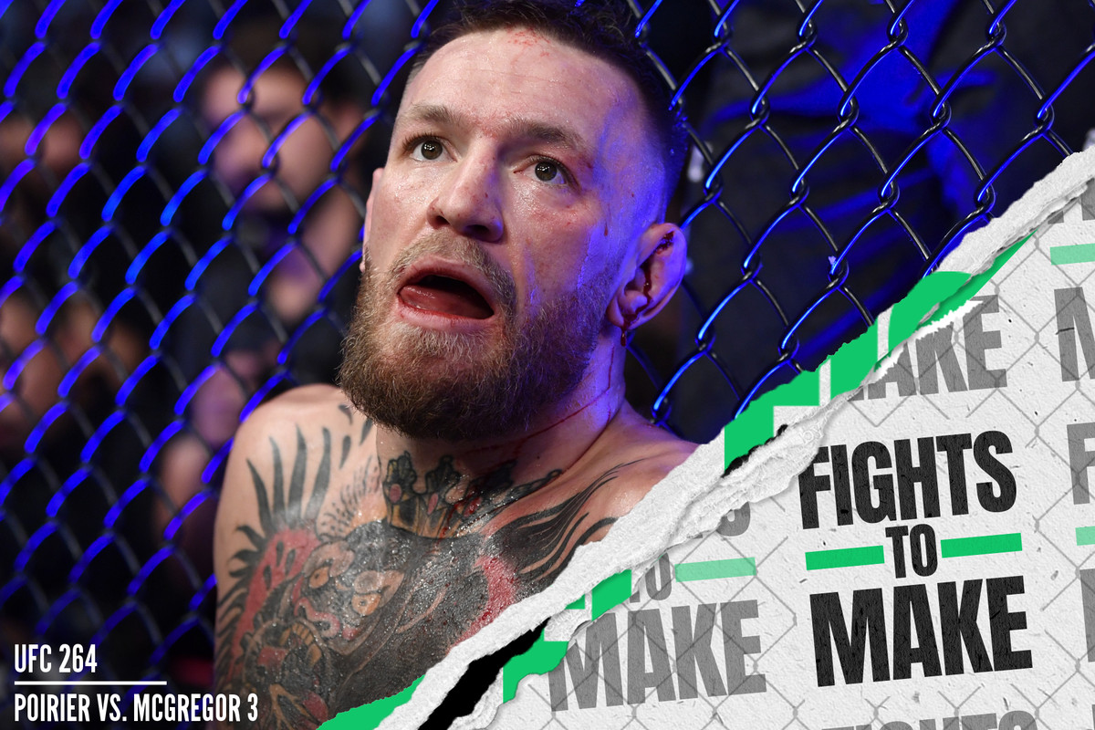 Conor McGregor after his loss to Dustin Poirier at UFC 264.