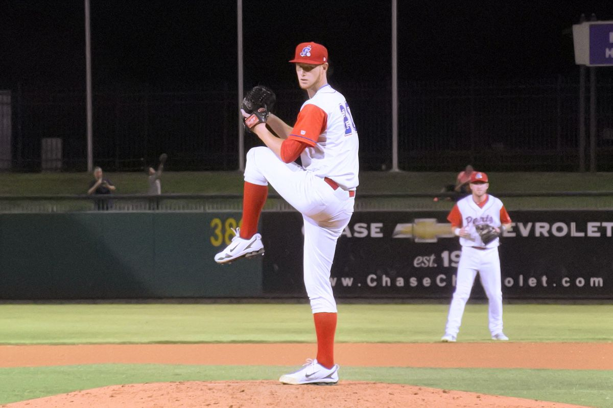 Casey Meisner pitches for High-A Stockton