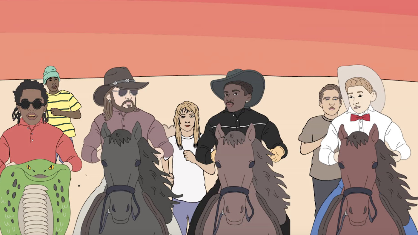 Lil Nas X releases an 'Old Town Road' music video that goes