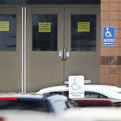 Officers lock down Fremont High School after reports of a student with a gun were made in Ogden Monday, Dec. 1, 2014.
