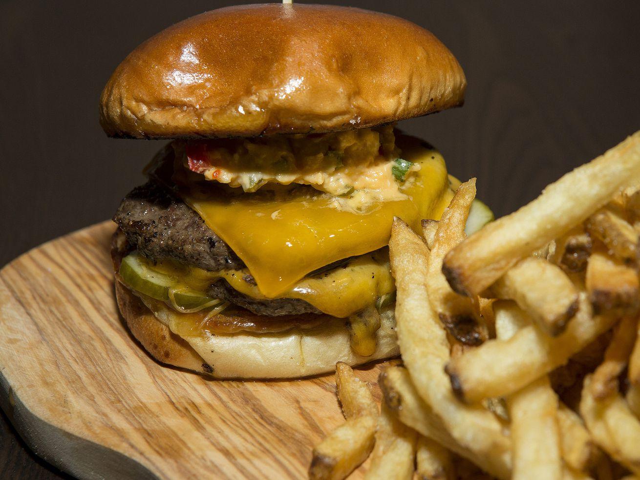 The Swill Inn's burger