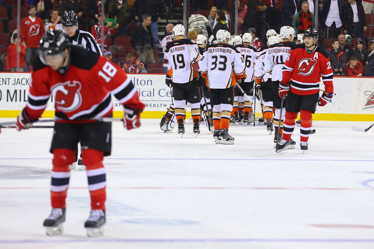 The last Devils-Ducks game in New Jersey didn't go so well.  Tonight may be different - I hope.