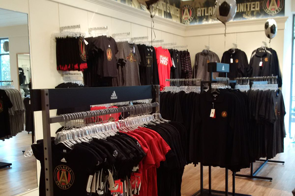 Inside the AUFC shop at the Mall of Georgia