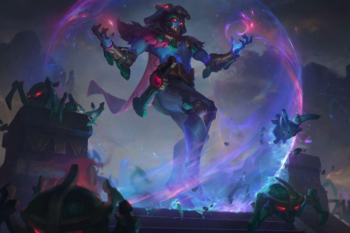 Worldbreaker Malzahar summons an orb of protection around him