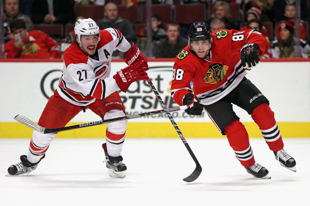 470124a0d What would Blackhawks get in a trade for Carolina D-man Justin Faulk ...