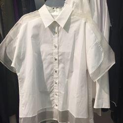 Oversized cotton poplin shirt, $100 (from $250)