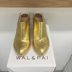 Wal & Pai booties, $297 (was $495)