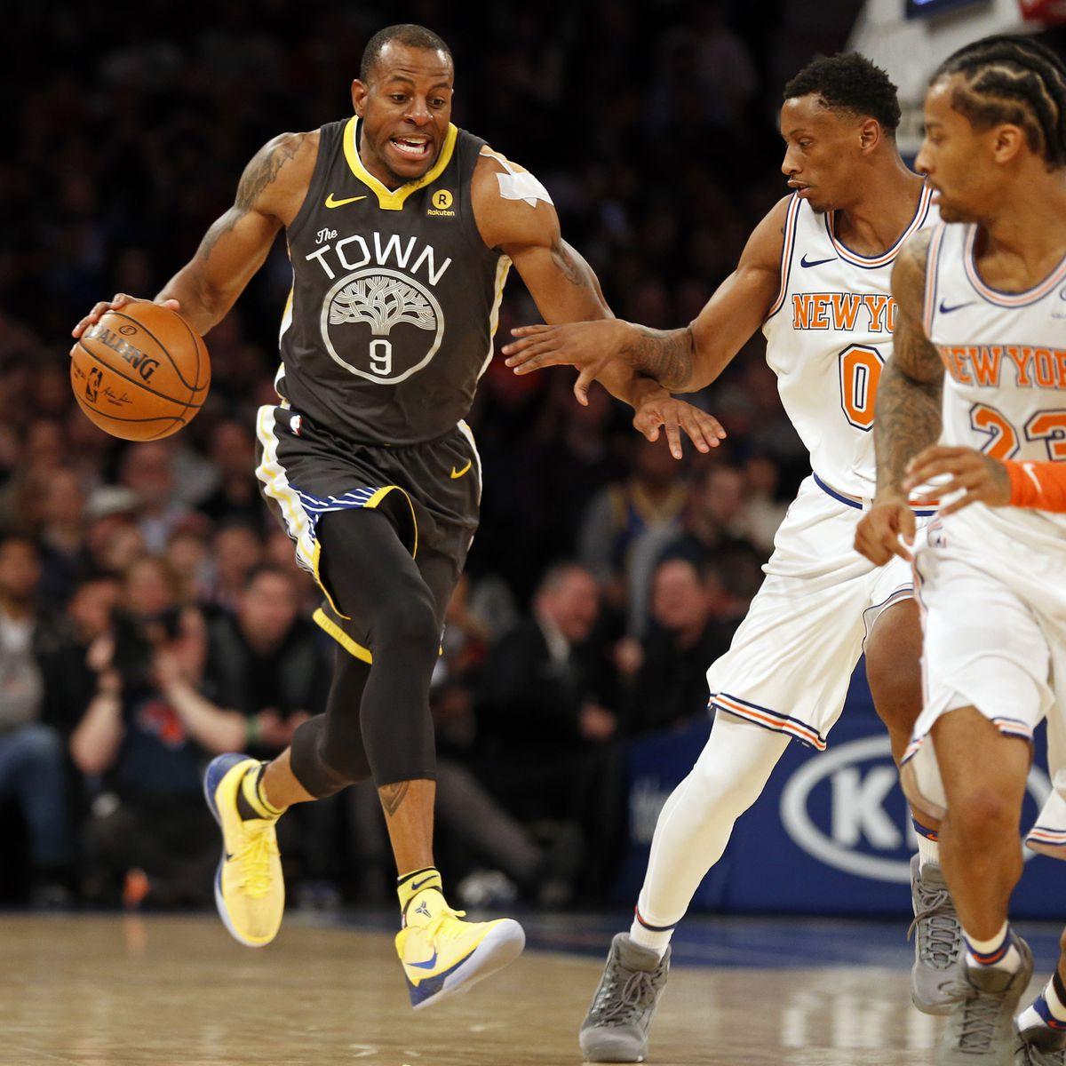 NBA: Golden State Warriors at New York Knicks