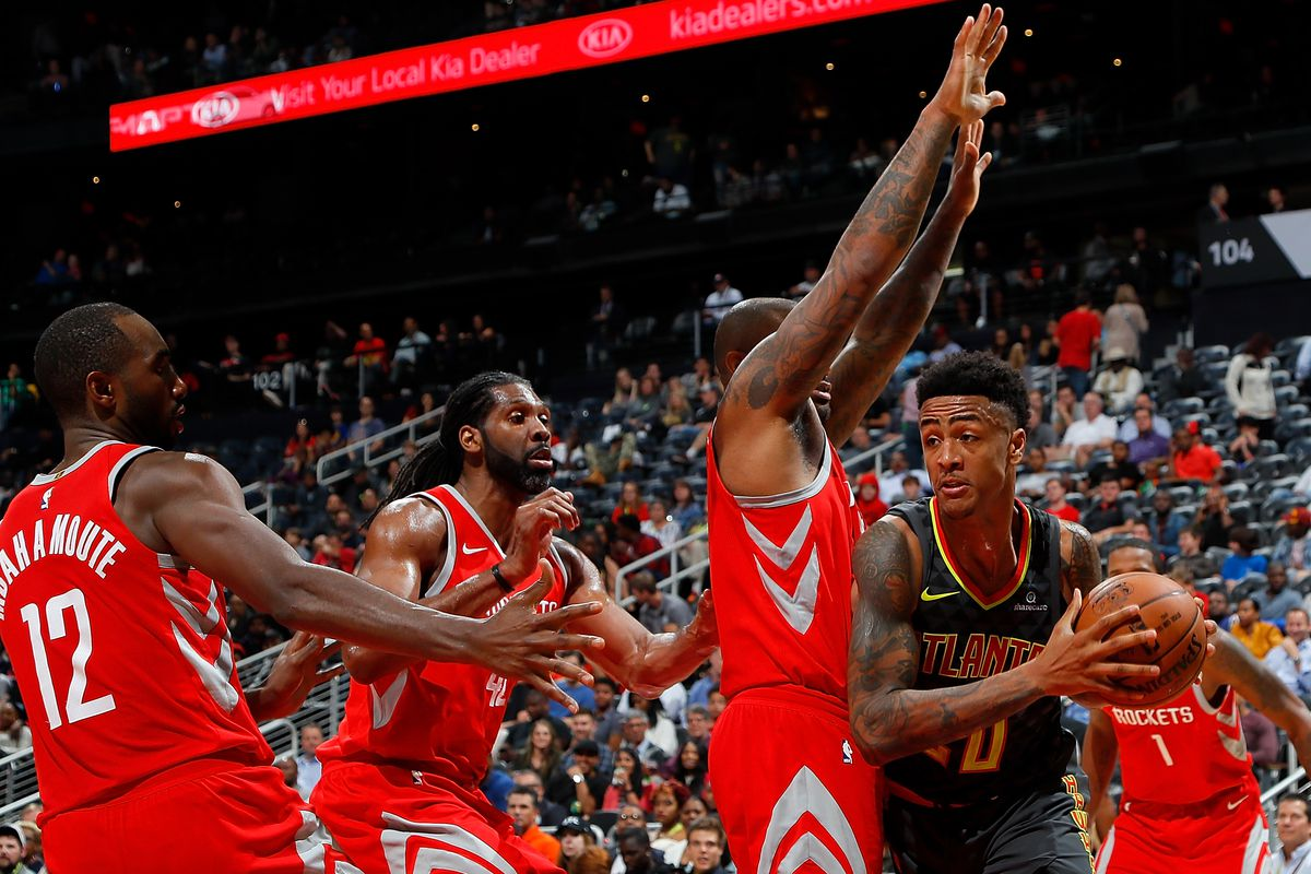 rockets cruise to 119 104 victory against hawks the dream shake