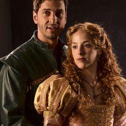 """Quinn Mattfeld, left, as Will Shakespeare and Betsy Mugavero as Viola de Lesseps star in the Utah Shakespeare Festival's 2017 production of """"Shakespeare in Love."""""""