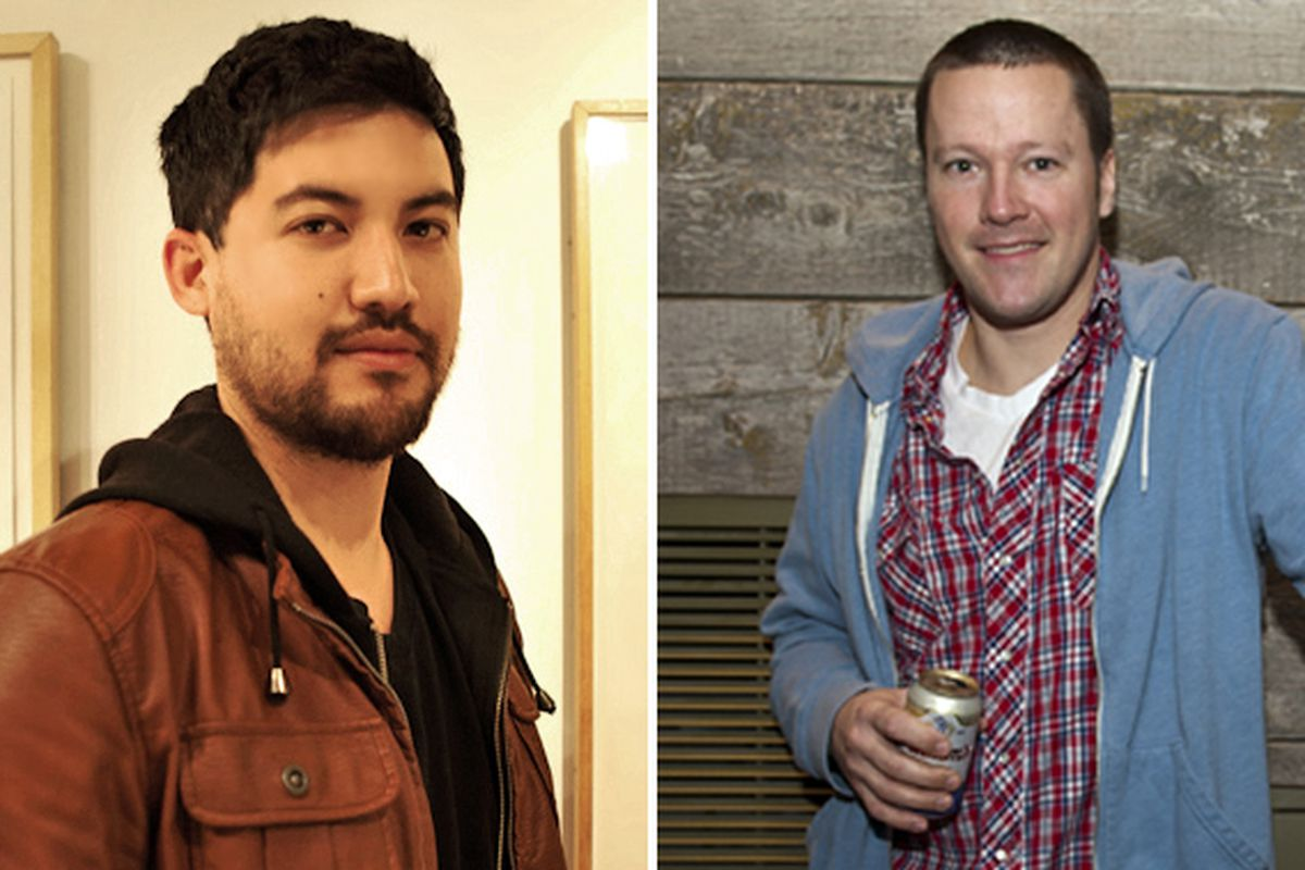 "Left: John-Carlos Kuramoto (Michael's, Santa Monica) [Photo: <a href=""http://elizabethdanielsphotography.com/"">Elizabeth Daniels</a>]; Right: Brian Walczyk (Brave Horse Tavern, Seattle)"
