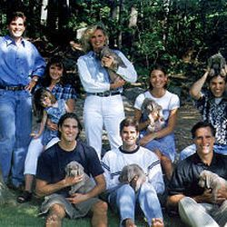 Mitt and Ann Romney with some of their family members. Mitt and Ann, married since 1969, have been a solid team.