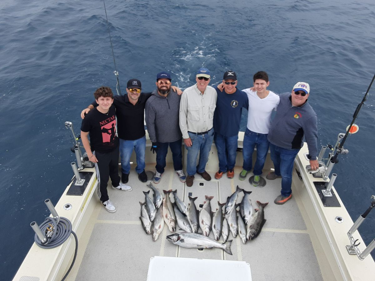 A mixed bag Tuesday, including a big king, on the Massive Confusion out of Chicago. Provided photo