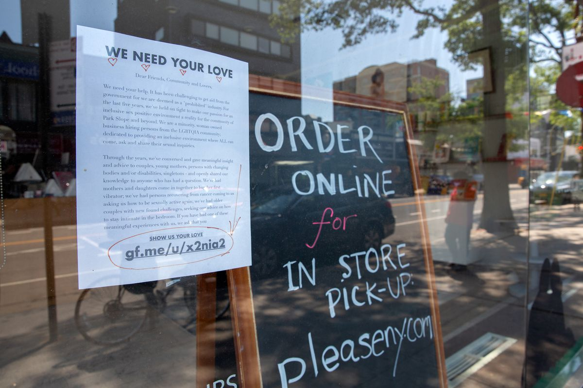 Please in Park Slope was fundraising to help stay open through the coronavirus lockdown, on June 9, 2020.