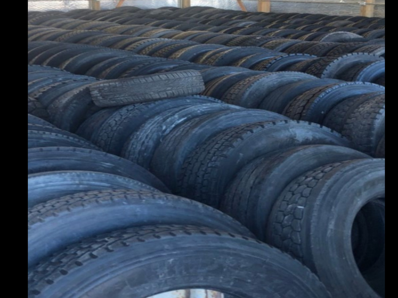 Police say they recovered more than 300 stolen tires in Harvey, pictured here.