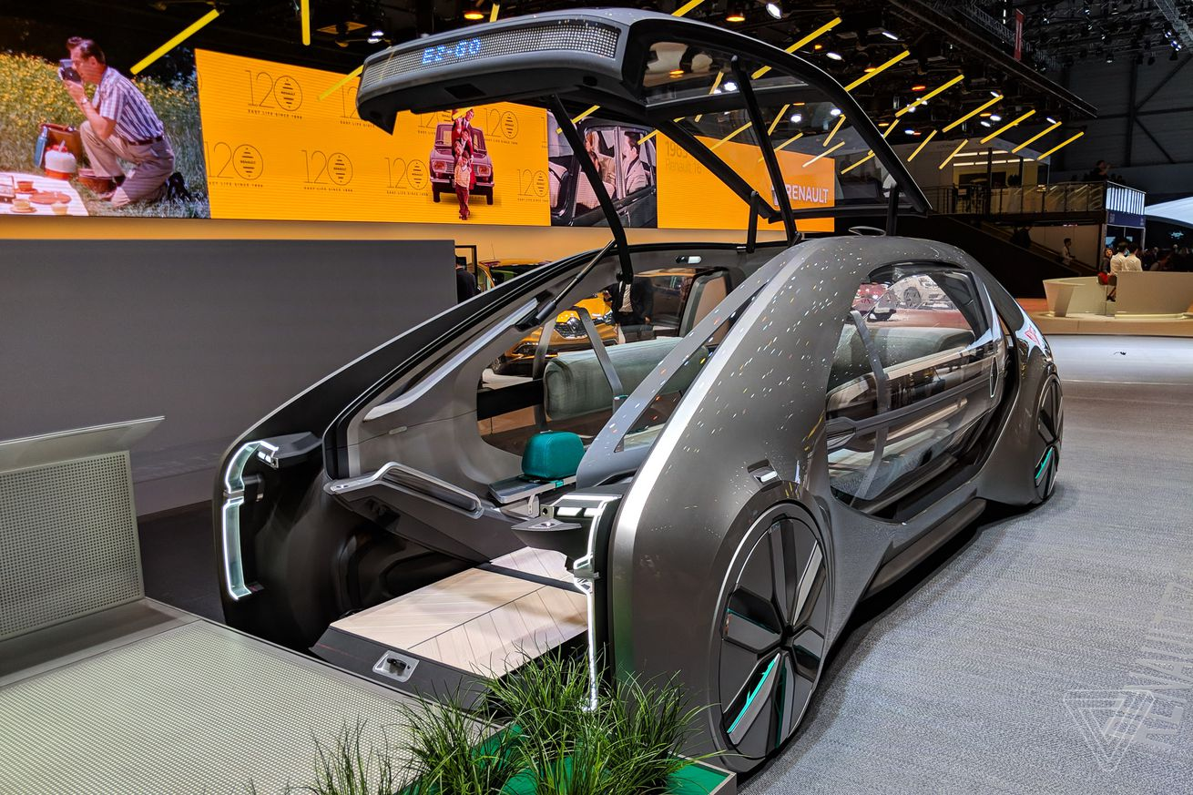 renault s ez go robot taxi is the most socially responsible concept in geneva
