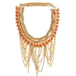 """<strong>Coral Gables Necklace</strong> Seven Halos Collection, <a href=""""http://wickedpeacock.com/index.php/coral-gables-necklace.html"""">$70</a>"""