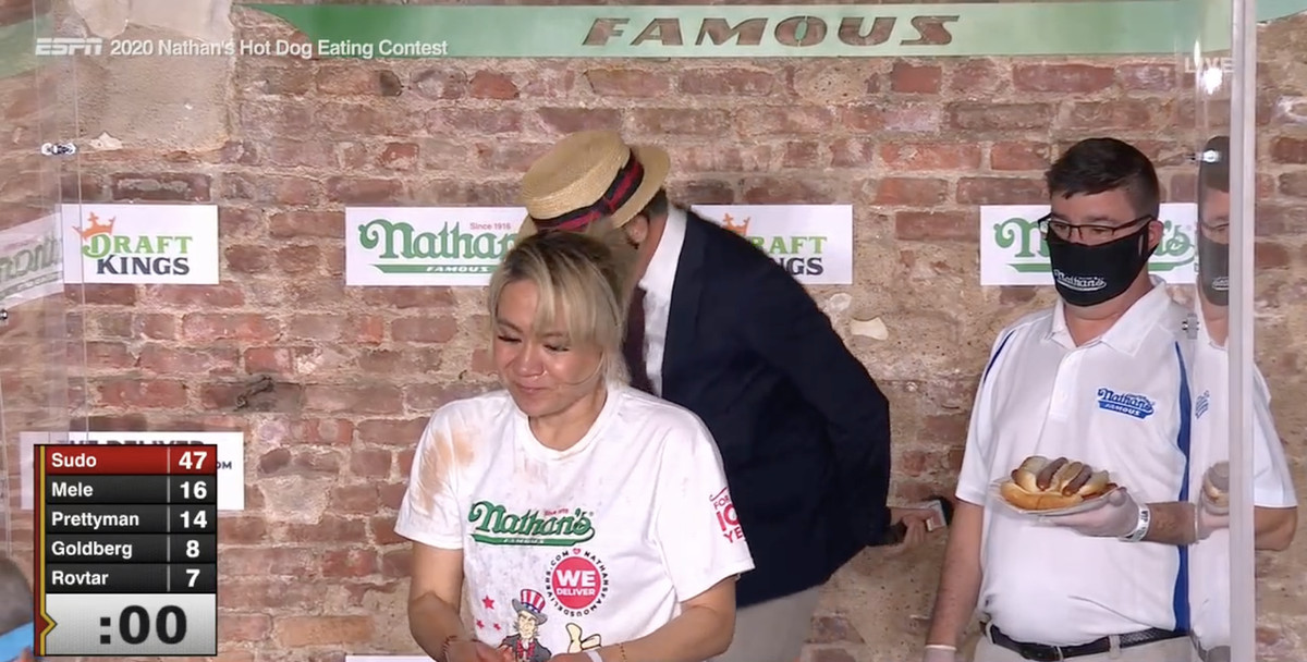 Miki Sudo wins 2020 Nathan's Hot Dog Eating Contest