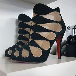 """Louboutin heels from a """"KristinaB"""", $650."""