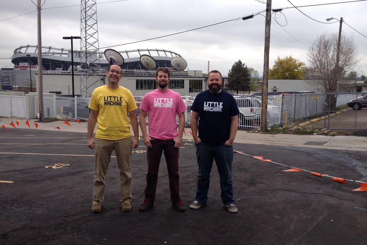 "The men behind Little Machine: Ben Chenard, Brett ""Brettman"" Williams, Mike Dunkly"