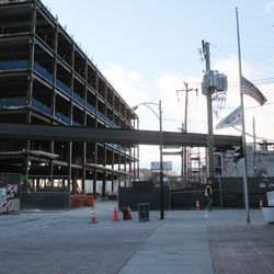 Fri 12/18: Cable bridge dismantled except for the supporting girders -