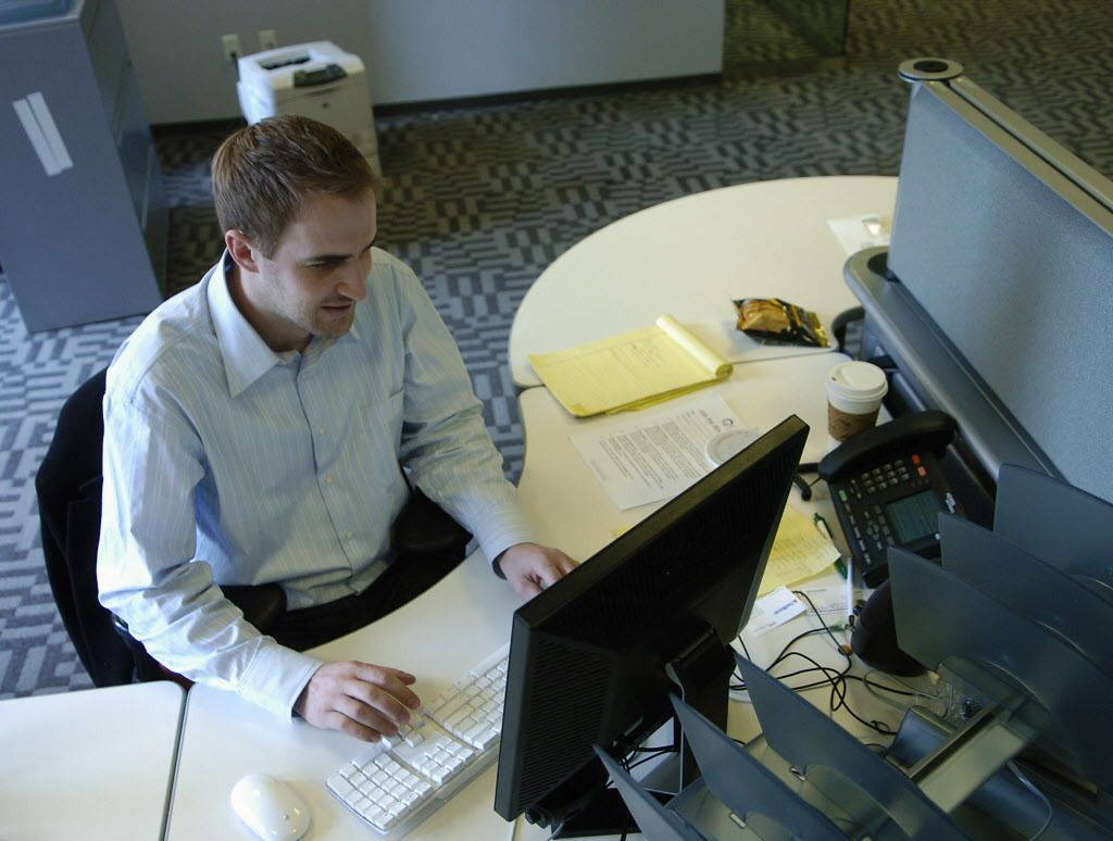 Michael Slaby in 2007 at Barack Obama's national presidential campaign headquarters in Chicago.   Sun-Times files