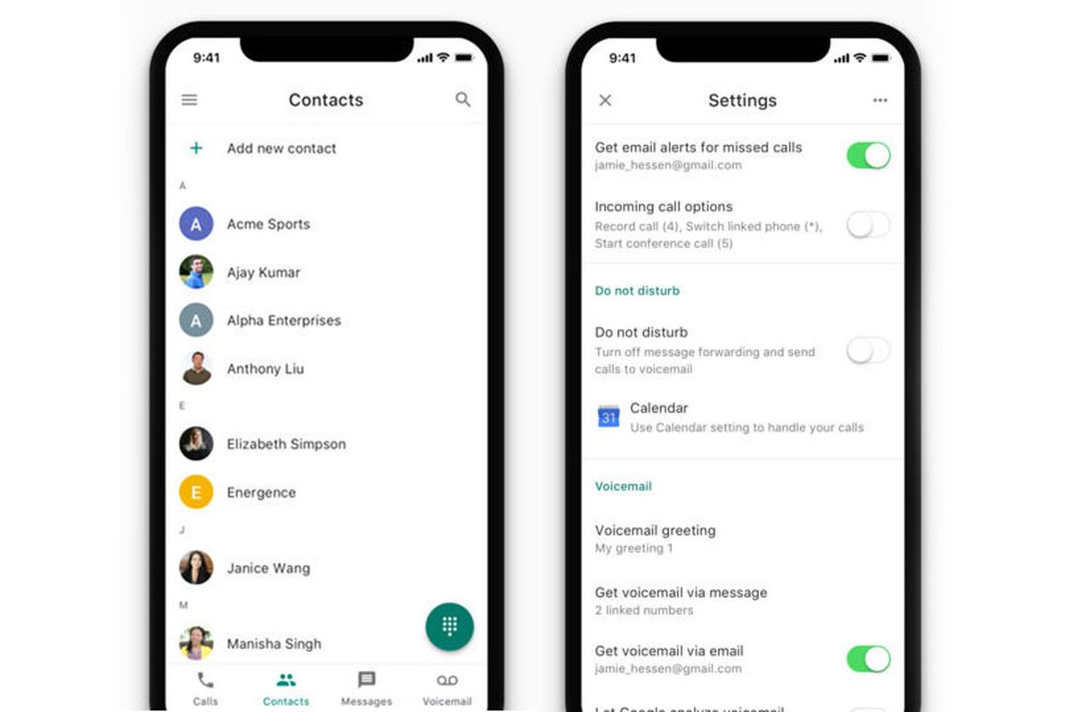 Google Voice updated with new icon, contacts tab, and