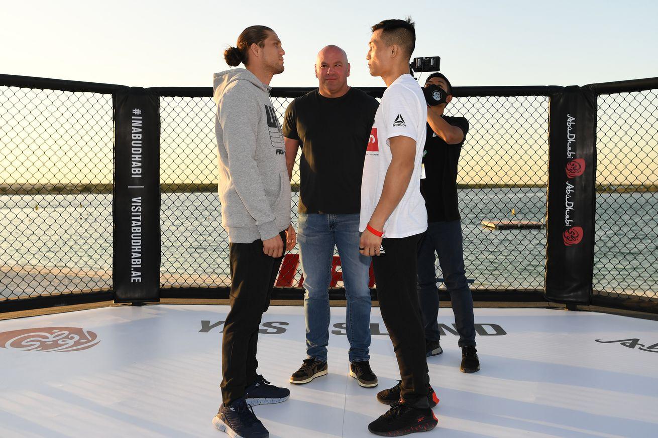 UFC Fight Night: Ortega v The Korean Zombie Beach Face-off