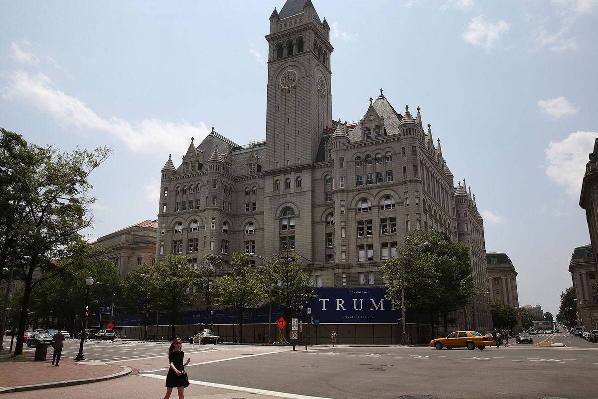 The site of the Trump Hotel in D.C.