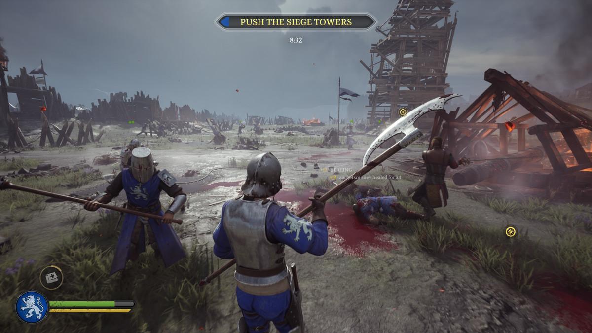 A battle scene from Chivalry 2