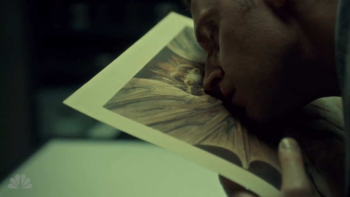Francis eats a painting on Hannibal.
