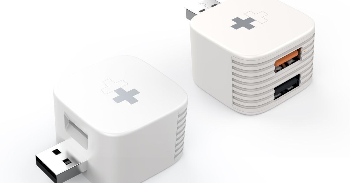 Sanho HyperCube adds USB and microSD storage to your phone charger