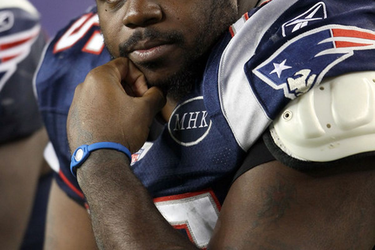 <em>Vince Wilfork likes what he sees so far from his fellow linemen</em>.