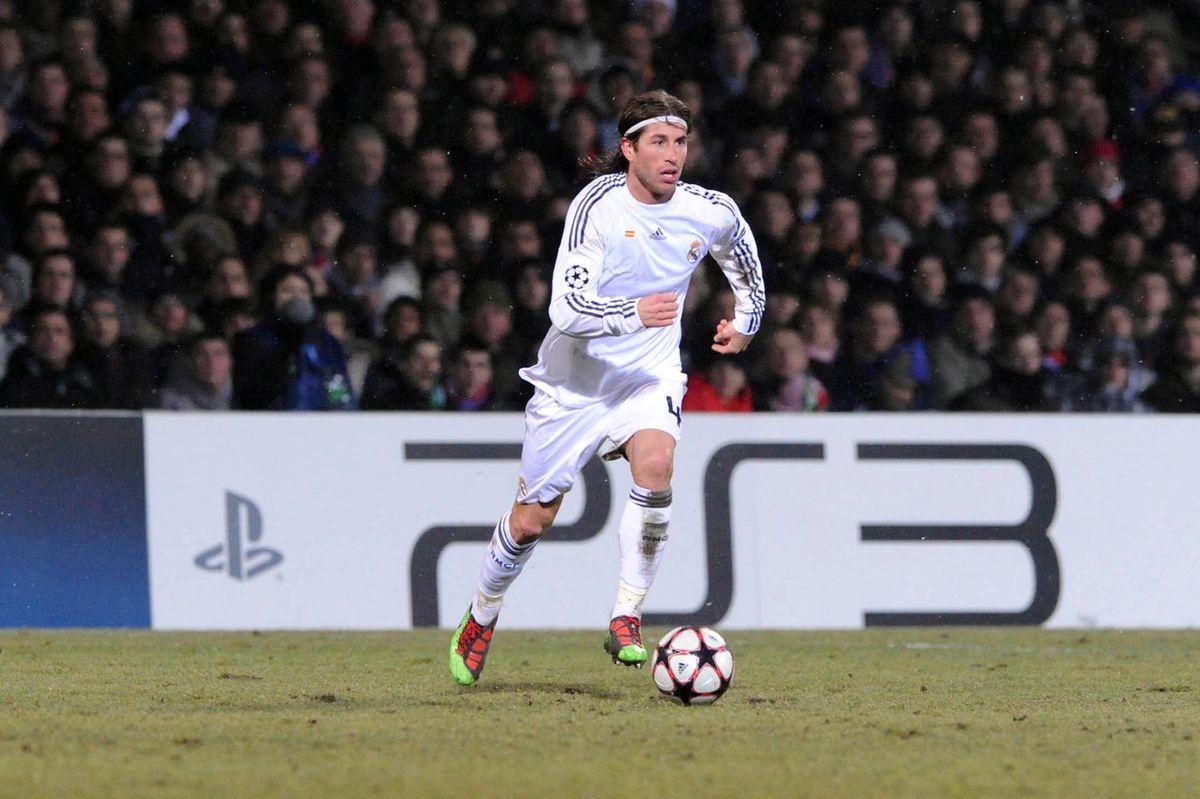 Sergio RAMOS - - 16.02.2010 - Lyon / Real madrid - 1/8 Finale aller Champions League - Stade Gerland - Lyon,