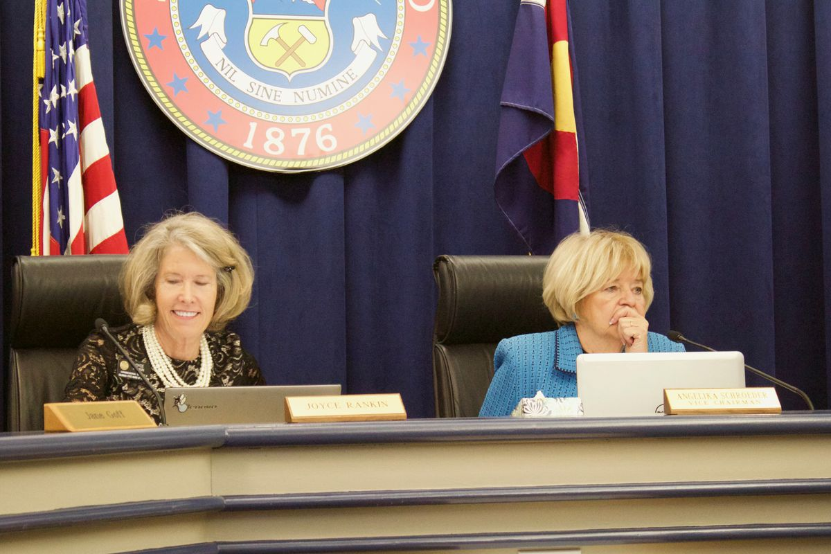 Angelika Schroeder, right, a Democrat from Boulder, was selected as chair of the State Board of Education on Wednesday. Joyce Rankin, a Carbondale Republican, was selected as vice chair.
