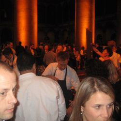 Large crowds gathered around the VOLT/Graffiato tables to get a glimpse of Top Chefs Bryan Voltaggio and Mike Isabella.