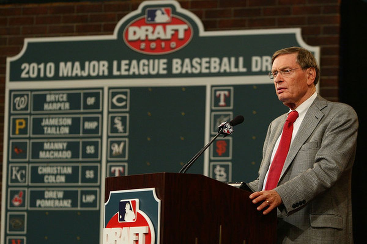 All the draft pictures to choose from include Selig. Sigh.