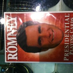 Mitt Romney playing cards.