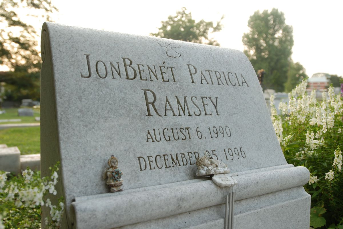 The grave of JonBenet Ramsey is shown August 16, 2006, in Marietta, Georgia. A suspect in the murder of Ramsey, the 6-year-old beauty queen whose parents were under suspicion early on, was arrested today in Thailand.