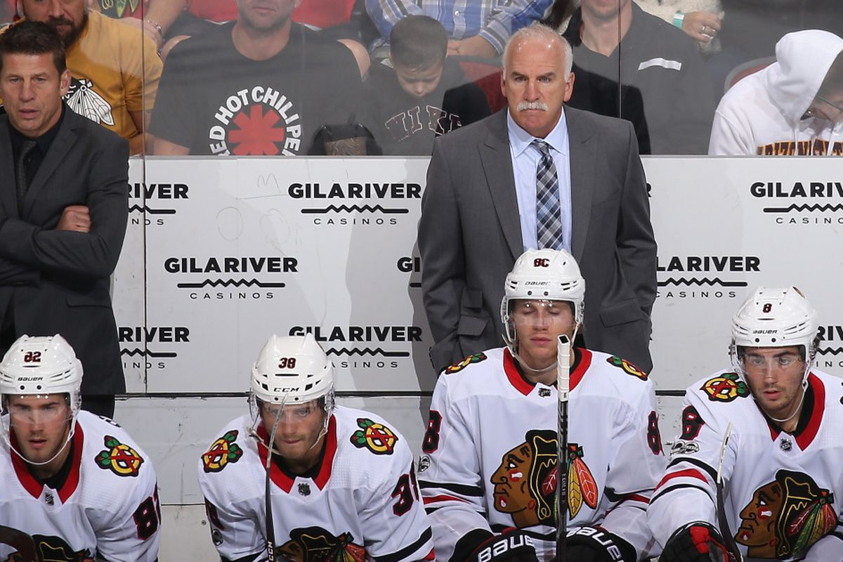 203c67371c0 The Blackhawks fired coach Joel Quenneville on Tuesday. | Christian  Petersen/Getty Images