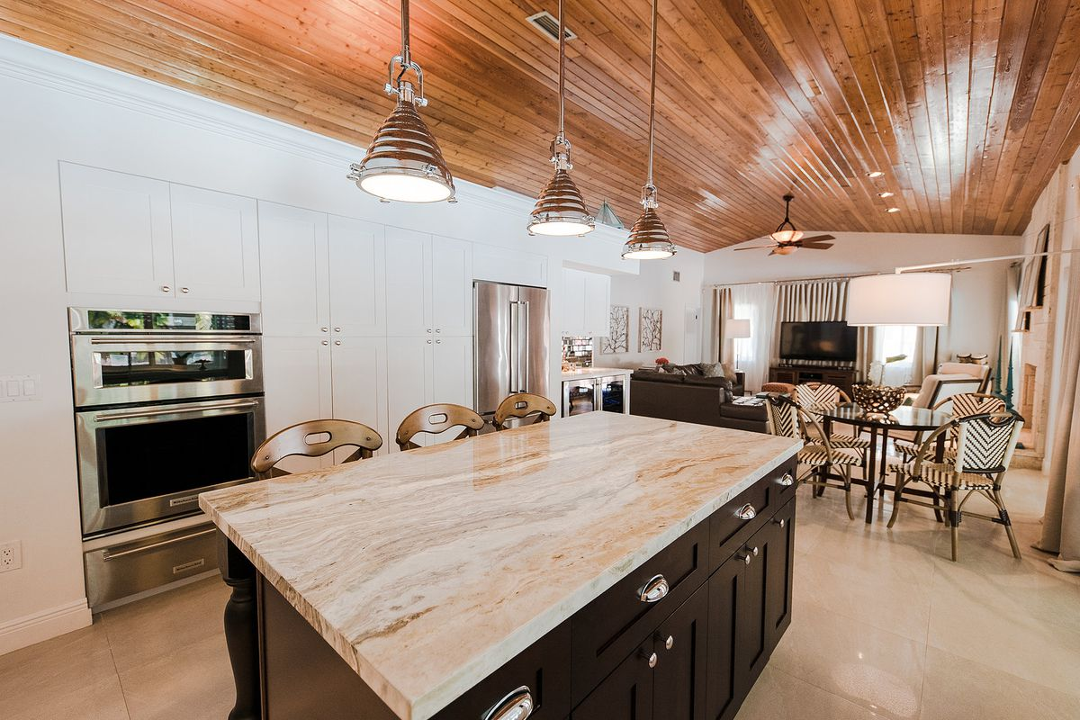 Inside the kitchen of a home for sale in Palmetto Bay