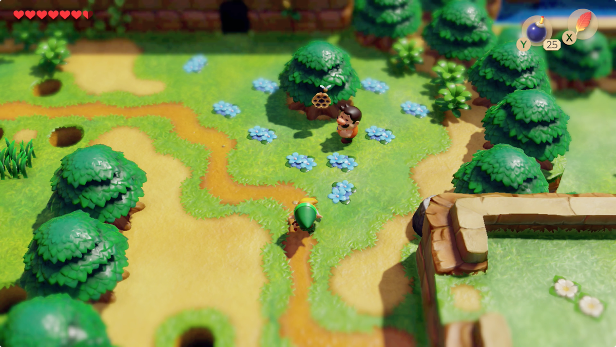 Link's Awakening trading sequence Tarin swap the Stick for the Honeycomb