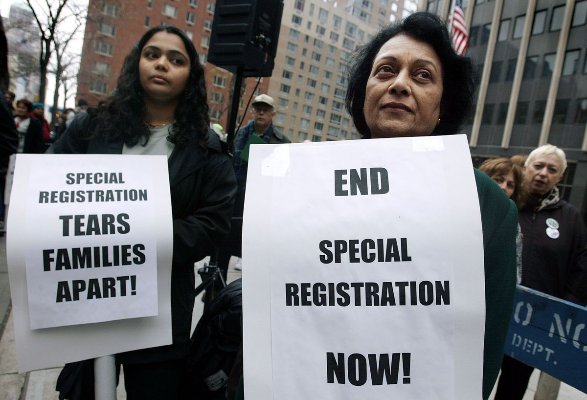 Arabs and Muslims Protest INS in New York