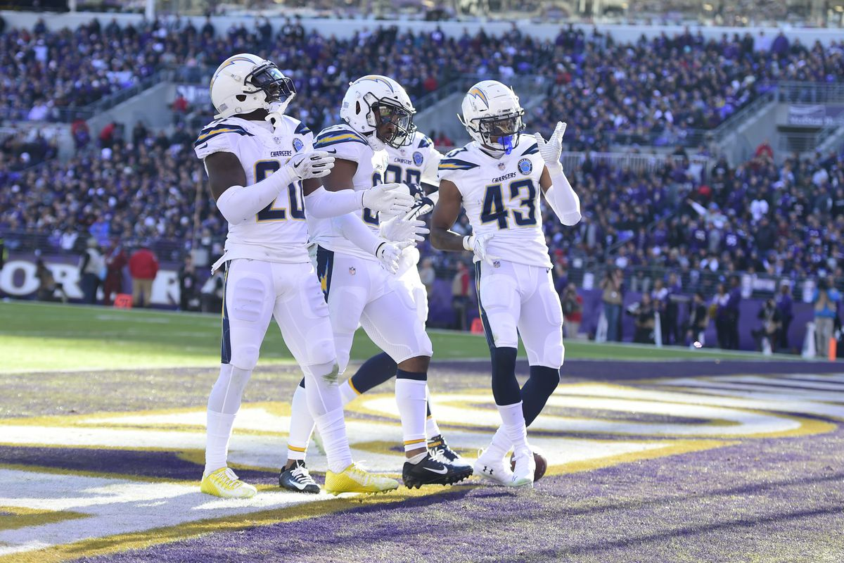Chargers Beat Ravens 23 17 Head To Foxboro To Face
