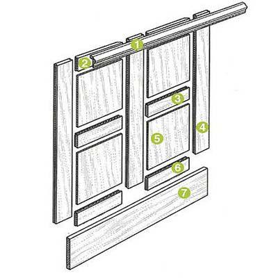 Flat Panel Wainscoting Diagram