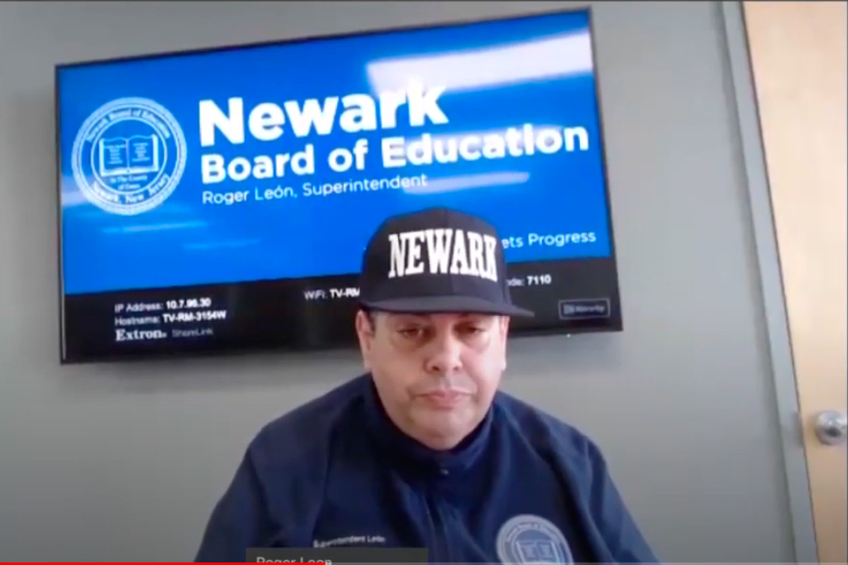 Newark Public Schools, Roger Leon, coronavirus