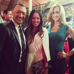 """""""With my fav @mrjoezee and Lara Spencer from Good Morning America at the #qvcredcarpet"""" - <a href=""""http://instagram.com/p/WDyBUTHj7-/""""target=""""_blank"""">Aimee Song</a>"""